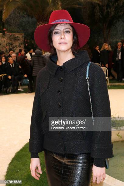 Actress Anna Mouglalis attends the Chanel Haute Couture Spring Summer 2019 show as part of Paris Fashion Week on January 22 2019 in Paris France