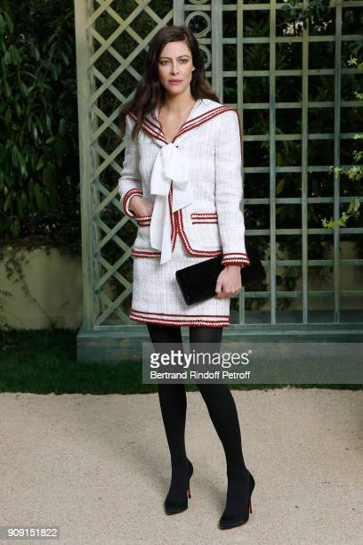 Actress Anna Mouglalis attends the Chanel Haute Couture Spring Summer 2018 show as part of Paris Fashion Week on January 23 2018 in Paris France