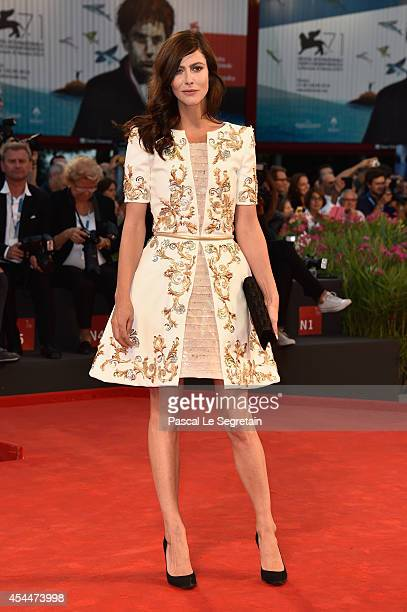 Actress Anna Mouglalis attends the 'Il Giovane Favoloso' Premiere during the 71st Venice Film Festival on September 1 2014 in Venice Italy