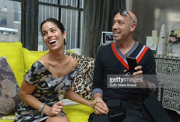 Actress Anna Ortiz and Celebrity Stylist Robert Verdi at Microsoft's Great American Style at Robert Verdi's Luxe Laboratory on September 9 2008 in...