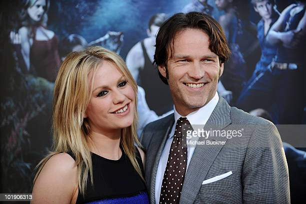 Actress Anna Paquin and actor Stephen Moyer arrive at the premiere of HBO's True Blood Season 3 at The Cinerama Dome on June 8 2010 in Hollywood...