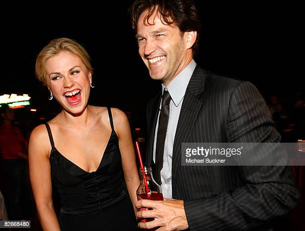 Actress Anna Paquin and actor Stephen Moyer attend the after party for the Los Angeles premiere of HBO's series 'True Blood' at the Cinerama Dome on...