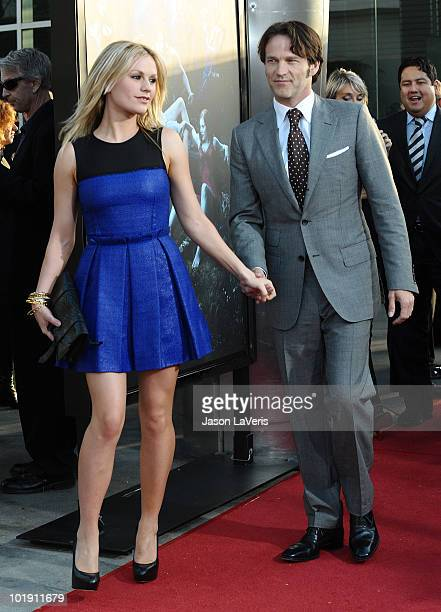 Actress Anna Paquin and actor Stephen Moyer attend the third season premiere of HBO's True Blood at ArcLight Cinemas Cinerama Dome on June 8 2010 in...