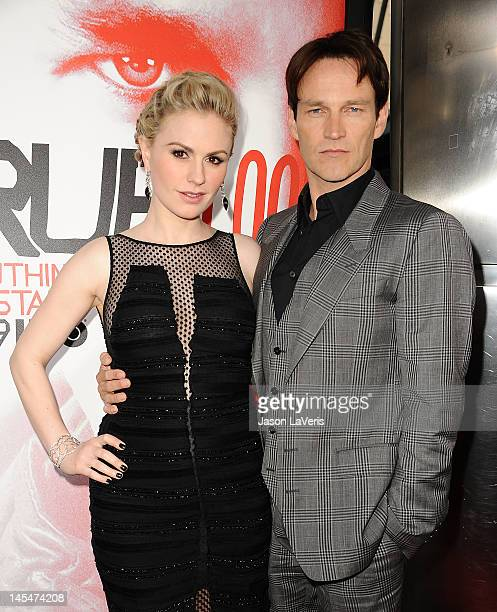 Actress Anna Paquin and her husband actor Stephen Moyer attend the season 5 premiere of HBO's True Blood at ArcLight Cinemas Cinerama Dome on May 30...
