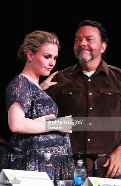 Actress Anna Paquin and writer Alan Ball attend HBO's 'True Blood' during ComicCon International 2012 at San Diego Convention Center on July 14 2012...