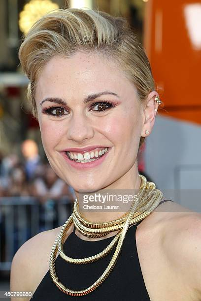 """Actress Anna Paquin arrives at HBO's """"True Blood"""" final season premiere at TCL Chinese Theatre on June 17, 2014 in Hollywood, California."""