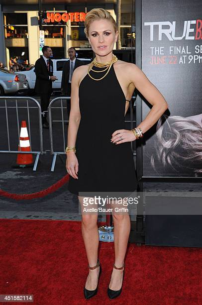 Actress Anna Paquin arrives at HBO's 'True Blood' Final Season Premiere at TCL Chinese Theatre on June 17, 2014 in Hollywood, California.