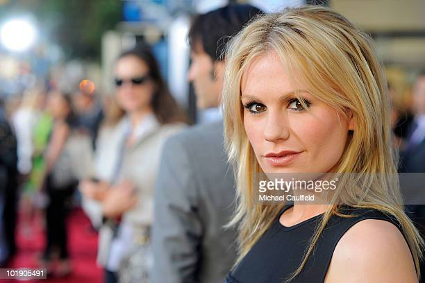 Actress Anna Paquin arrives at HBO's True Blood Season 3 premiere held at the ArcLight Cinemas Cinerama Dome on June 8 2010 in Hollywood California