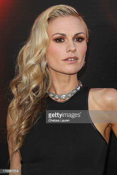 """Actress Anna Paquin arrives at HBO's """"True Blood"""" season 6 premiere at ArcLight Cinemas Cinerama Dome on June 11, 2013 in Hollywood, California."""