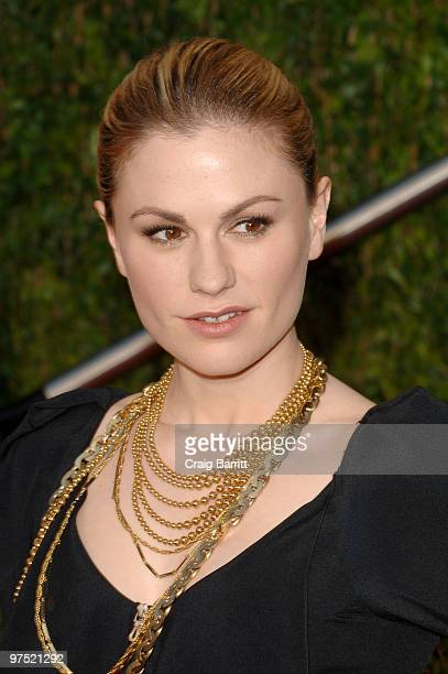 Actress Anna Paquin arrives at the 2010 Vanity Fair Oscar Party hosted by Graydon Carter held at Sunset Tower on March 7 2010 in West Hollywood...