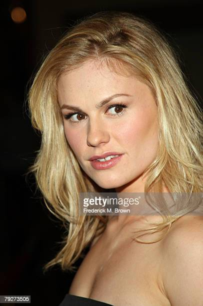Actress Anna Paquin arrives at the 60th annual DGA Awards held at the Hyatt Regency Century Plaza Hotel on January 26 2008 in Los Angeles California