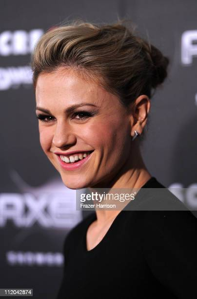 Actress Anna Paquin arrives at the premiere of the Weinstein Company's Scream 4 Presented by AXE Shower at Grauman's Chinese Theatre on April 11 2011...