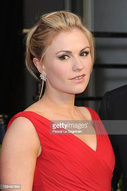 Actress Anna Paquin arrives at the Vanity Fair Oscar party hosted by Graydon Carter held at Sunset Tower on February 27 2011 in West Hollywood...