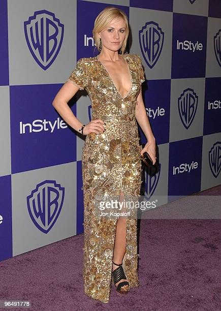 Actress Anna Paquin arrives at the Warner Brothers/InStyle Golden Globes After Party at The Beverly Hilton Hotel on January 17 2010 in Beverly Hills...