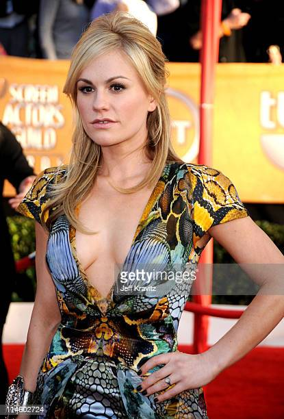 Actress Anna Paquin arrives to the 16th Annual Screen Actors Guild Awards held at The Shrine Auditorium on January 23 2010 in Los Angeles California