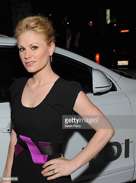 Actress Anna Paquin arrives to the Audi Golden Globes Celebration with Nominee Anna Paquin in an Audi TDI at the Sunset Tower Hotel on January 10,...