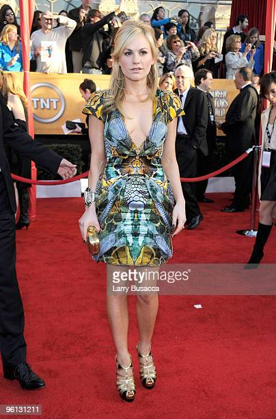 Actress Anna Paquin arrives to the TNT/TBS broadcast of the 16th Annual Screen Actors Guild Awards held at the Shrine Auditorium on January 23 2010...