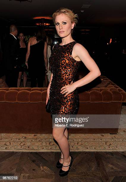 Actress Anna Paquin attends a cocktail party hosted by Valentino on April 29 2010 in West Hollywood California