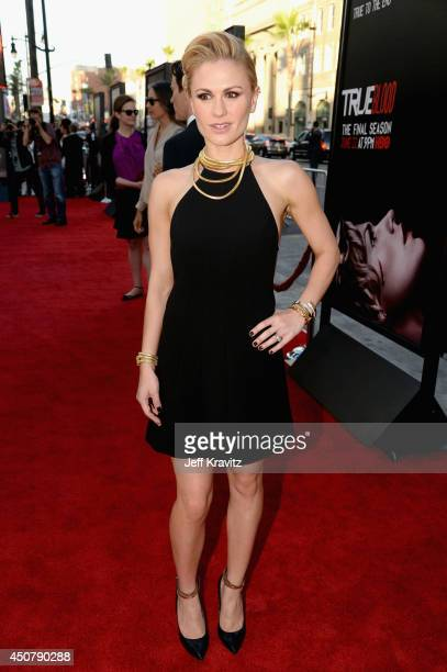 Actress Anna Paquin attends HBO True Blood season 7 premiere at TCL Chinese Theatre on June 17 2014 in Hollywood California