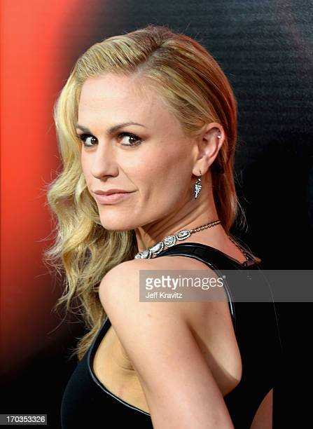 Actress Anna Paquin attends HBO's 'True Blood' season 6 premiere at ArcLight Cinemas Cinerama Dome on June 11 2013 in Hollywood California