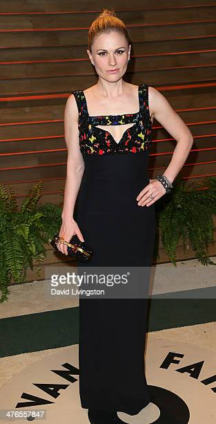 Actress Anna Paquin attends the 2014 Vanity Fair Oscar Party hosted by Graydon Carter on March 2 2014 in West Hollywood California