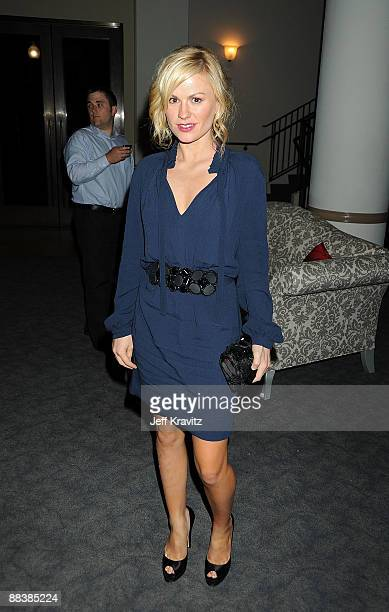 """Actress Anna Paquin attends the after party for the HBO premiere of """"True Blood"""" at Paramount Studios on June 9, 2009 in Los Angeles, California."""