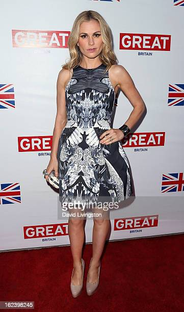 Actress Anna Paquin attends the GREAT British Film Reception at the British Consul General's Residence on February 22 2013 in Los Angeles California