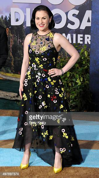 Actress Anna Paquin attends the Premiere of DisneyPixar's 'The Good Dinosaur' at the El Capitan Theatre on November 17 2015 in Hollywood California