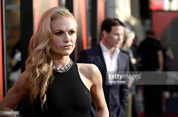 Actress Anna Paquin attends the premiere of HBO's 'True Blood' at ArcLight Cinemas Cinerama Dome on June 11 2013 in Hollywood California
