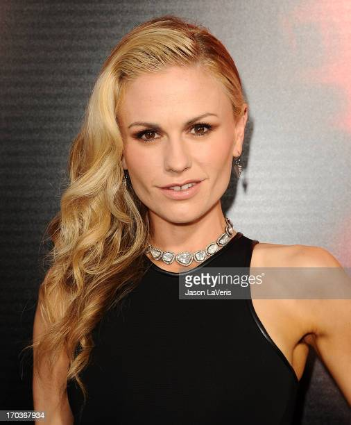 Actress Anna Paquin attends the season 6 premiere of HBO's True Blood at ArcLight Cinemas Cinerama Dome on June 11 2013 in Hollywood California