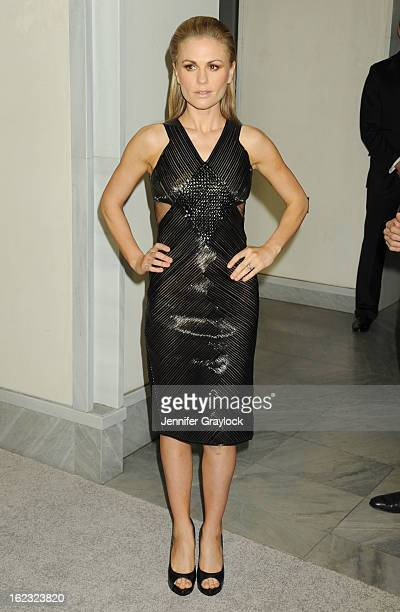 Actress Anna Paquin attends the Tom Ford cocktail party in support of Project Angel Food Media held at TOM FORD boutique on February 21 2013 in...