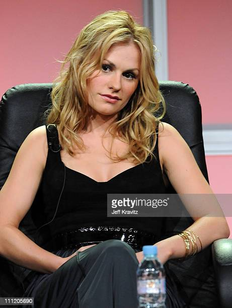Actress Anna Paquin of 'True Blood' speaks during the HBO Channel 2008 Summer Television Critics Association Press Tour held at the Beverly Hilton...