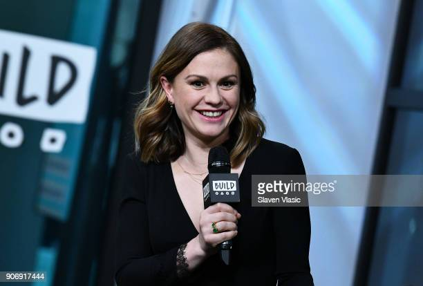 Actress Anna Paquin visits Build Series to discuss TV series 'Bellevue' at Build Studio on January 18 2018 in New York City
