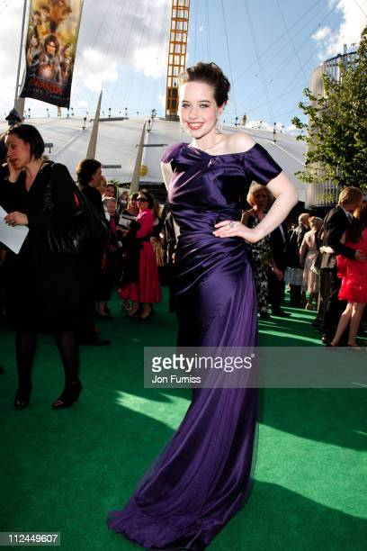 Actress Anna Popplewell to the UK Premiere of The Chronicles of Narnia Prince Caspian at the O2 Dome in North Greenwich on June 19 2008 in London...