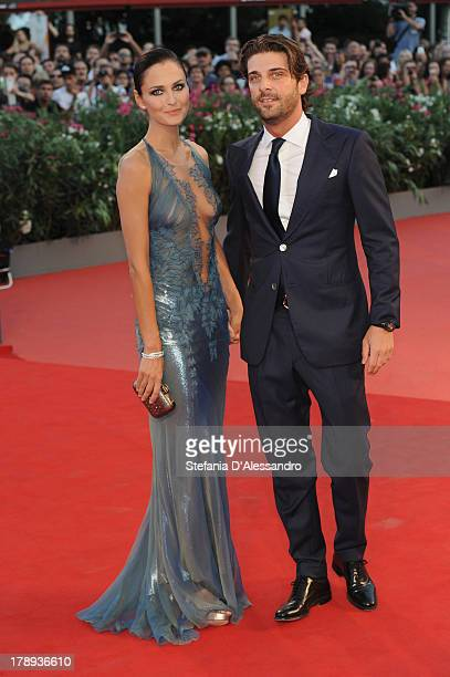 Actress Anna Safroncik and Paolo Barletta attend Philomena Premiere during the 70th Venice International Film Festival at Sala Grande on August 31...