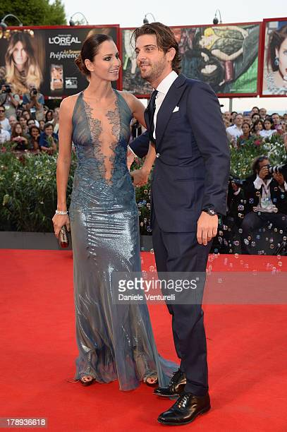 Actress Anna Safroncik and Paolo Barletta attend 'Philomena' Premiere during the 70th Venice International Film Festival at Sala Grande on August 31...