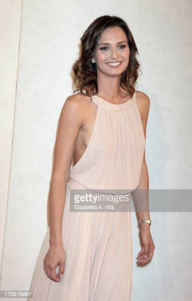 Actress Anna Safroncik attends 2013 Premi David di Donatello Ceremony Awards at Dear RAI Studios on June 14 2013 in Rome Italy