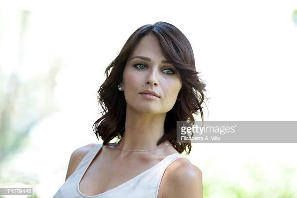 Actress Anna Safroncik attends 'La Tre Rose Di Eva 2' photocall at Mediaset Studios on July 23 2013 in Rome Italy