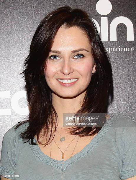 Actress Anna Safroncik attends 'Let's Party' by Coin on April 12 2012 in Milan Italy
