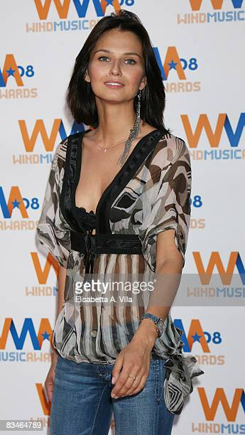 Actress Anna Safroncik attends the 2008 Wind Music Awards at Villa Giulia on June 3 2008 in Rome Italy