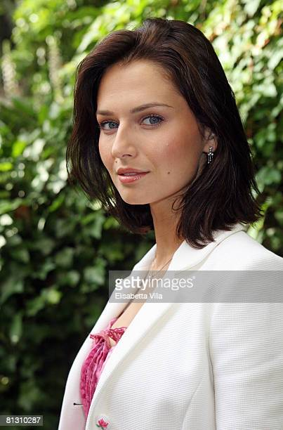 Actress Anna Safroncik attends the auction Art For Peace in support of Soleterre Strategie di Pace charity organization at the Hotel de Russie on May...