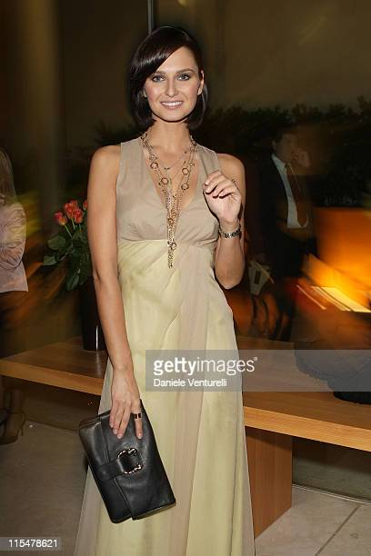 Actress Anna Safroncik attends the Charity Gala Telethon during Day 8 of the 4th International Rome Film Festival held at the Auditorium Parco della...