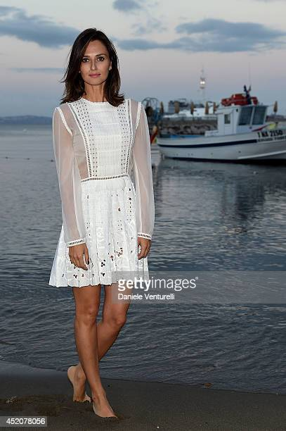 Actress Anna Safroncik attends the Day 1 of Ischia Global Film Music Fest 2014 on July 12 2014 in Ischia Italy