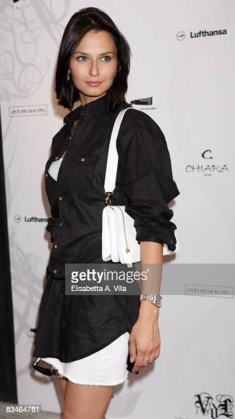 Actress Anna Safroncik attends the launch of the new fashion creations by Valentina De Laurentis at Fleur on May 27 2008 in Rome Italy