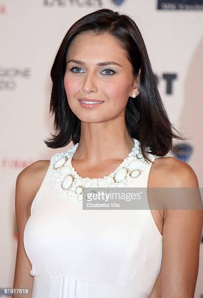 Actress Anna Safroncik attends the Roma Fiction Fest 2008 Closing Ceremony and Diamond Awards on July 12 2008 in Rome Italy