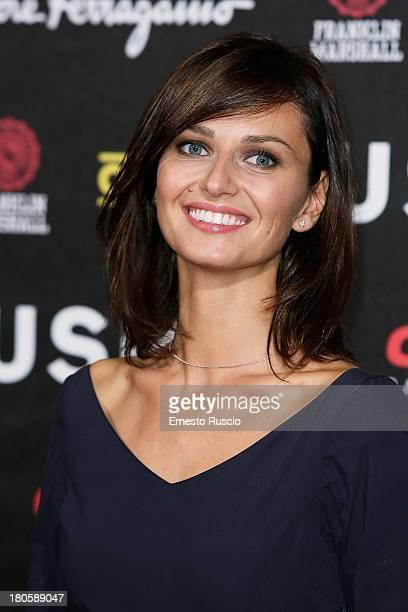 Actress Anna Safroncik attends the 'Rush' Premiere at Auditorium della Conciliazione on September 14 2013 in Rome Italy