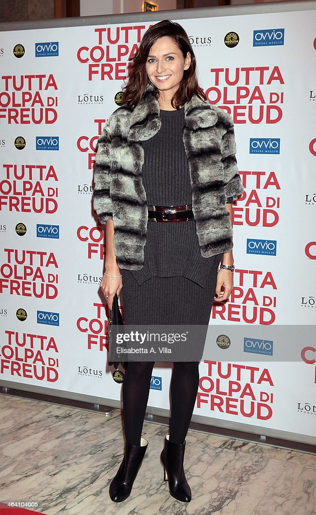 Actress Anna Safroncik attends 'Tutta colpa di Freud' premiere at Teatro dell'Opera on January 20, 2014 in Rome, Italy.