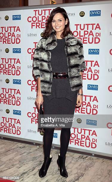 Actress Anna Safroncik attends 'Tutta colpa di Freud' premiere at Teatro dell'Opera on January 20 2014 in Rome Italy