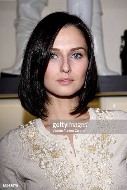 Actress Anna Safroncik attends Vicini press day during Milan Fashion Week Womenswear Autumn/Winter 2009 on February 28 2009 in Milan Italy