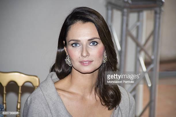 Actress Anna Safroncik during the Milano Fashion Week Milan 21st September 2016